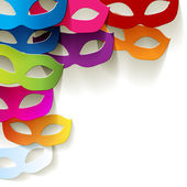 Carnival paper masks edge Multi Colored — Stock Vector