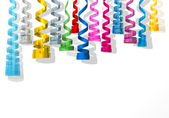 Party streamers colorful — Stock Photo