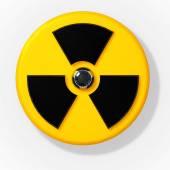 Nuclear radioactive radiation sign — Stock Photo