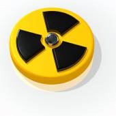 Nuclear radioactive radiation sign — Stock Photo