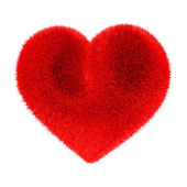 Heart in red fur — Photo