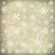 Christmas postcard vintage snow background — Stock Photo #62860011