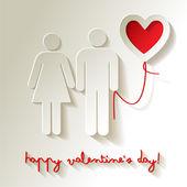 Valentine's day heart — Stock Vector
