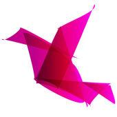 Freelancer Logo bird origami pink — Stock Vector