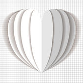 Heart latern flower vector white on checkered paper background — Stock Vector