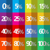 Percent symbols pattern stained checkered colorful — Stock Vector