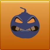 Button Halloween — Cтоковый вектор