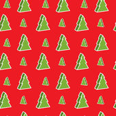 Seamless xmas-tree pattern — Stock Vector