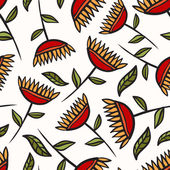 Floral seamless pattern — Stockvektor