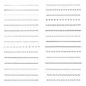 Set of hand drawn borders — Stock Vector