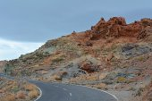 Volcanic landscape on Teide, Tenerife, Canary Islands, Spain — Stock Photo