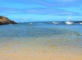 Landscape Majanicho beach in Fuerteventura Canary islands Spain — Fotografia Stock