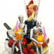 Fruits, dummies and blender — Stock Photo #62802763