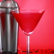 Cosmopolitan cocktail and shaker — Stock Photo #62802901