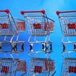 Little shopping carts — Stock Photo #62805655