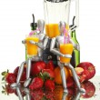 Fruits, dummies and blender — Stock Photo #62806069