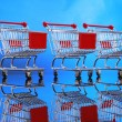 Little shopping carts — Stock Photo #62807415