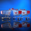 Little shopping carts — Stock Photo #62808495