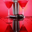 Cosmopolitan cocktail and shaker — Stock Photo #62808891