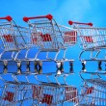 Little shopping carts — Stock Photo #62809659