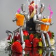 Fruits, dummies and blender — Stock Photo #62809827