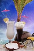 Colada and frozen coffee — Stock Photo