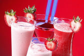 Strawberry cocktail or smoothies — Stock Photo
