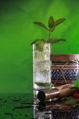 Muddled mint cocktail — Stock Photo