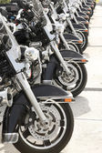 Law enforcement motorcycles ready to ride — Stock Photo