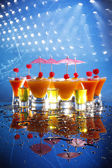 Fruit daiquiri and shooters — ストック写真