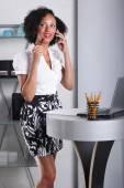 Woman on duty at office — Stockfoto
