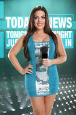 Confident anchorwoman in studio — Stock Photo