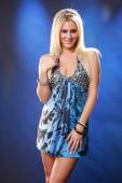 Cute blonde in dress — Stock Photo