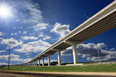 Long overpass on a sunny day — Stock Photo