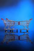 Little shopping carts — Stock Photo