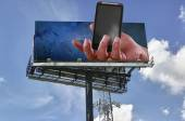 Mobile telephony billboard — Stock Photo