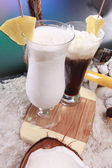 Colada and frozen coffee — Stock Photo