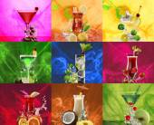 Nine cocktails set — Stock Photo