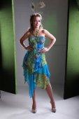 Brunette girl in exotic dress — Foto Stock