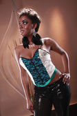 Cute black girl — Stock Photo