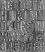 Debossed and brushed aluminum type — Stock Photo