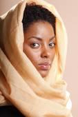 Beautiful woman in scarf — Stock Photo