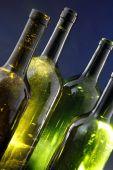 Bottled white wine — Stock Photo