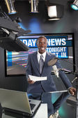 TV or Radio news anchor — Stock Photo