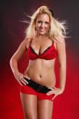 Sexy blonde girl posing — Stock Photo