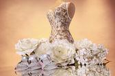 Wedding fashion presentation — Stock Photo
