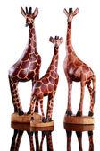 Miniature giraffes toys — Stock Photo