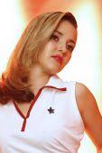 Cute sailor girl — Stock Photo