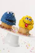Creative cupcakes and party sprinkle — Stock Photo