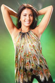 Brunette woman in dress — Stock Photo
